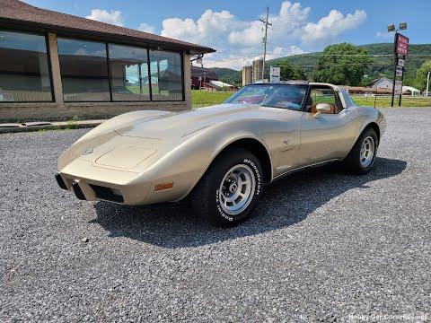 1978 Champagne Corvette For Sale Video