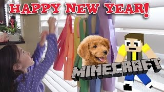 New Year's Eve CRAFTERS! Making New Minecraft Server & Paper Lanterns