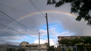 preview picture of video 'Mauritius Beauty - Rainbow seen in Town'