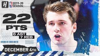 Luka Doncic 22 Pts Full Highlights   Timberwolves vs Mavericks   December 4, 2019