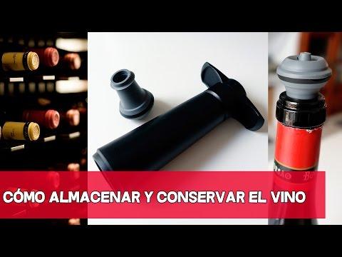 CONSEJO: Cómo Almacenar y Conservar vino una vez abierto