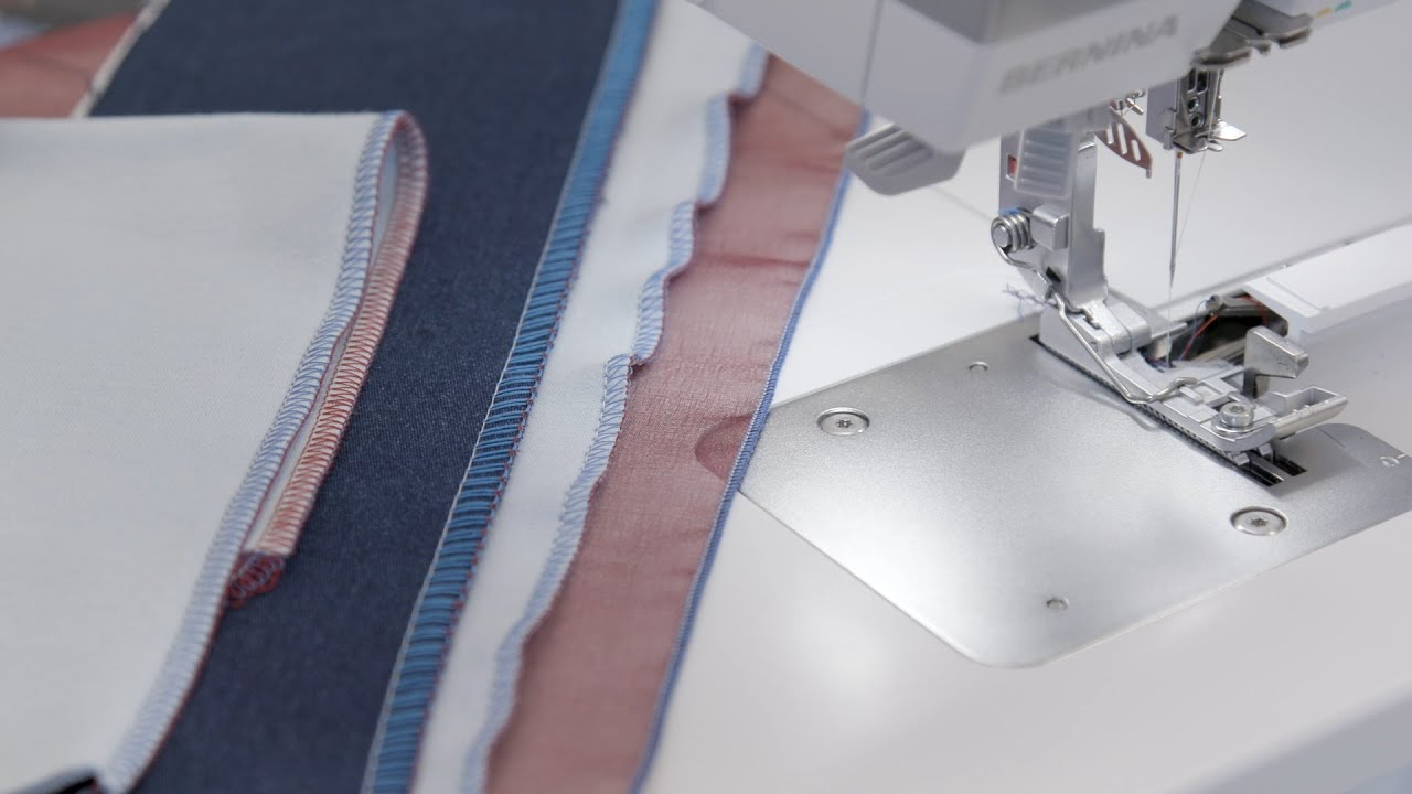 BERNINA L 850 Overlock: Stichlänge, Differenzialtransport, Kräuseln (7/21)