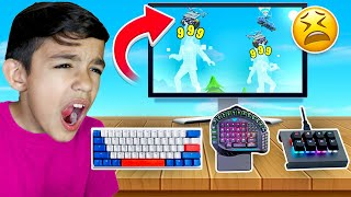 Every Death My Little Brothers Keyboard Gets WORSE In Fortnite!