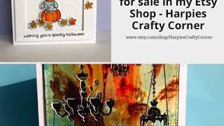 Handmade Halloween Cards For Sale In My Etsy Shop - Harpies Crafty Corner