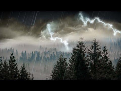 10 Hours Rain & Thunder   Rainstorm Sounds for Sleep, Studying or Relaxation   Nature White Noise