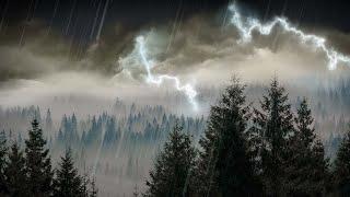 10 Hours Rain & Thunder | Rainstorm Sounds for Sleep, Studying or Relaxation | Nature White Noise