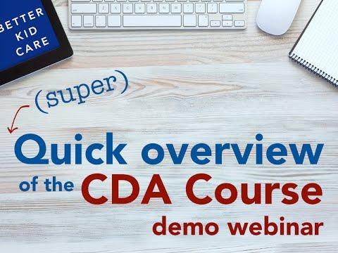 (Super) Quick Overview of the CDA Course Demo Webinar - YouTube