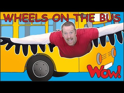 Wheels On The Bus Go with Steve and Maggie   Learn Speaking with Wow English TV