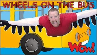 Wheels On The Bus Go with Steve and Maggie | Learn Free Speaking with Wow English TV - Video Youtube