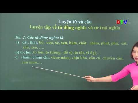 [BTV-Lớp 5-Môn Tiếng Việt] Số 2: Luyện từ và câu(NGÀY 24.3.2020)
