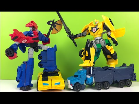 JUGUETES DE LOS TRANSFORMERS OPTIMUS PRIME BUMBLE BEE ROBOTS IN DISGUISE HASBRO