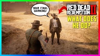 What Happens If You Commit A Crime In Front Of The Tumbleweed Sheriff In Red Dead Redemption 2?