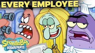 Timeline of EVERY Krusty Krab Employee EVER! 🍔 SpongeBob