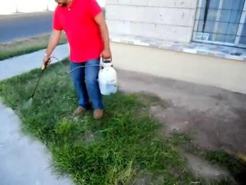 Paso-1: Aplicamos el herbicida