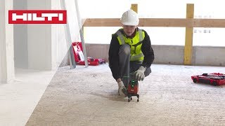 HOW TO use the HILTI PM 40-MG Green multiline laser to align drywalls