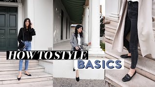 MAKE BASIC OUTFITS LOOK CHIC! [ Wardrobe Basics 101] Scandi / Minimal Style Outfits | Mademoiselle