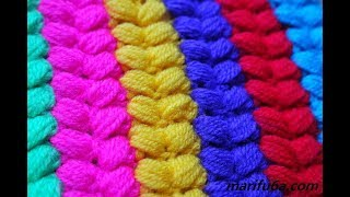 How To Crochet Blanket, Afghan, Hot Pad Braid Stitch Free Pattern  By Marifu6a