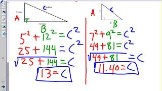Pythagorean Theorem, Trig, Special Right Triangles, Radicals Test Review #LOCKATLEE