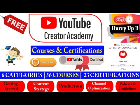 YouTube Free Courses with Certificate - How To Get Letter of ...