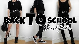 BLACK BACK TO SCHOOL OUTFITS 2016