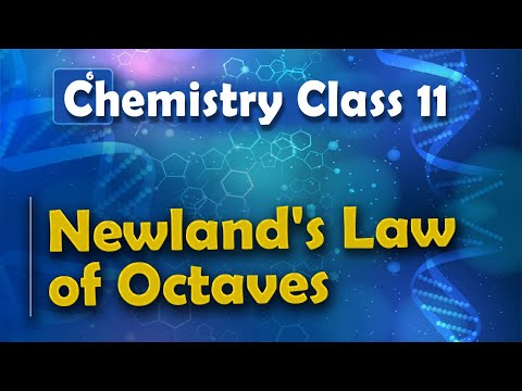 Newland's Law of Octaves - Periodic table - Chemistry Class 11