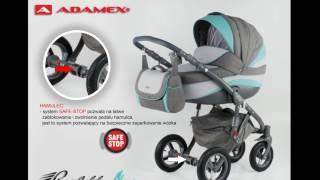 Коляска Adamex Barletta New. Расцветки от компании Angel Dom - видео