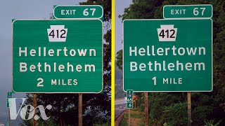 Why the US has two different highway fonts thumbnail