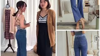 PUFII-偷偷長高的小喇叭牛仔褲