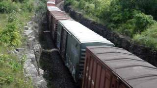 preview picture of video 'Napanee Ontario - CN 309 & VIA 61 at River Rd.'