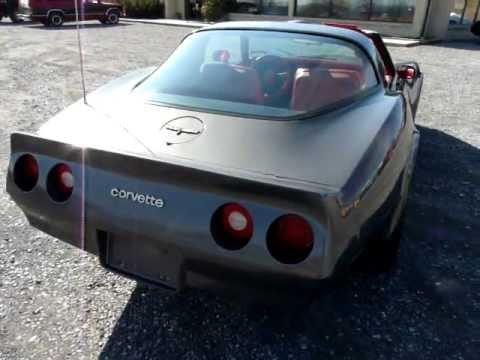 1981 Charcoal Metallic Corvette 4spd Video