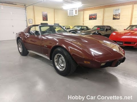 1976 Burgundy Corvette Automatic Stingray Hot Rod Video