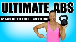 ULTIMATE KETTLEBELL AB WORKOUT | 12 Minute Kettlebell Workout With Abs Exercises For A Flat Stomach by Max's Best Bootcamp