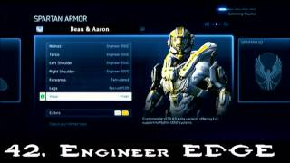 Halo 4 EVERY ARMOR, 70 ARMORS