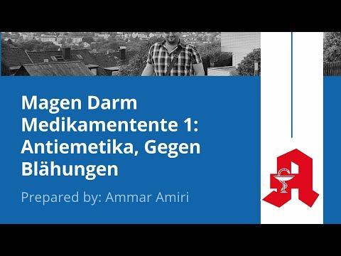 أدوية الجهاز الهضمي ١ Magen Darm Medikamente 1: Antiemetika, Gegen Blähungen
