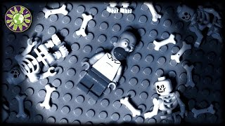 Lego Halloween Zombies, Ghosts and Ned Flanders in Homer Simpson Nightmare
