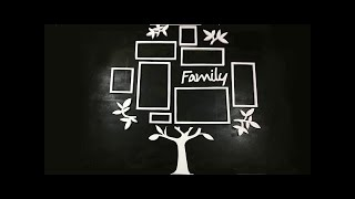 How To Make A Family Tree Photo Frame | Best Out Of Waste Crafts | Interior Decoration Photo Frame