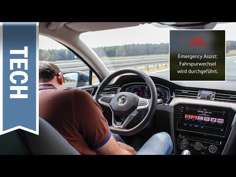 Emergency Assist im VW Passat im Test: Nothalteassistent für med. Notfall auf Autobahn & Landstraße