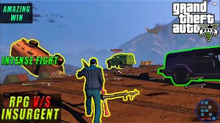 GTA V | Intense And Amazing RPG v/s INSURGENTS Fight Winning