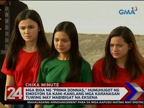 """24 Oras: Mga bida ng """"Prima Donnas,"""" humuhugot ng emosyon sa kani-kanilang mga karanasan tuwing..."""