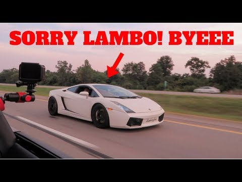 I RACED & DESTROYED A LAMBORGHINI GALLARDO IN MY '18 MUSTANG GT!