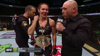 UFC 219: Cris Cyborg - Octagon Interview