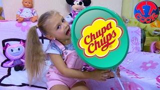 ЧЕЛЛЕНДЖ Угадай Вкус ОГРОМНЫЙ ЧУПА-ЧУПС Видео для детей Challenge Candy Chuppa Chups Lollipops