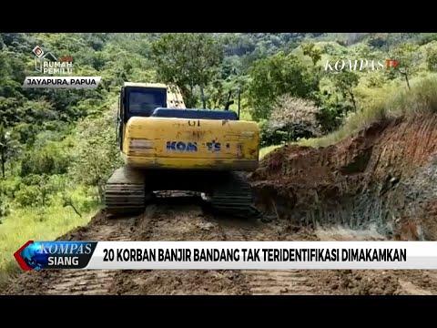 Tak Teridentifikasi, 20 Korban Banjir Bandang Jayapura Dimakamkan Massal