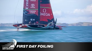 AC36: ETNZ team video of their AC75 foiling; more on today's TFE LIVE including LRPP's launc