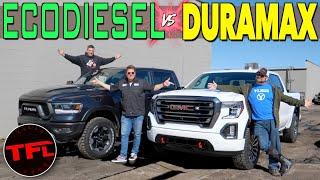 Best Diesel Truck! 2020 GMC Sierra AT4 vs Ram Rebel Diesel 0-60 MPH Buddy Review