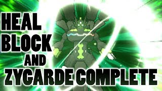 Does Heal Block Stop Zygarde Complete Forme from Gaining Health in Pokemon Sun and Moon?