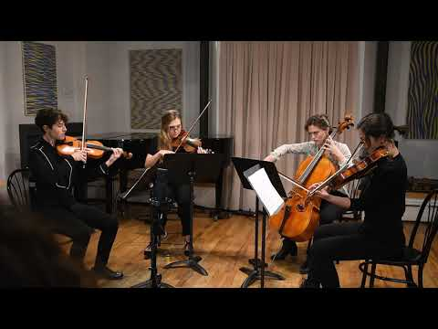 The Xanthoria String Quartet performing the first movement of my second string quartet.