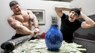 Hiding $10,000 Inside A Rage Room!!