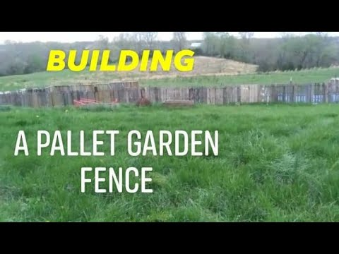 Pallet Garden Fence  Unfinished Prodject