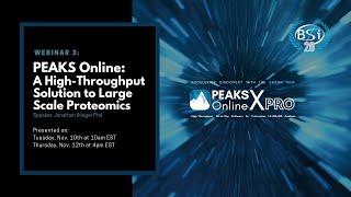 PEAKS Online Webinar